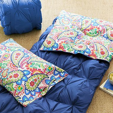 Pin Tuck Sleeping Bag Pillowcase Paisley Add A
