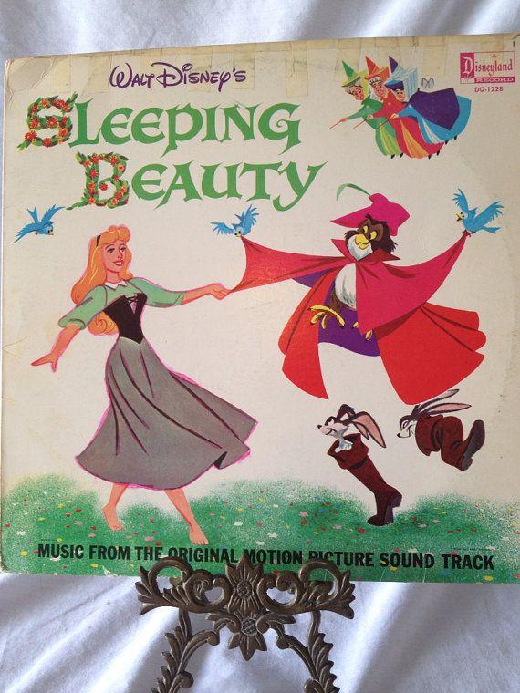 Vintage Record Disney S Sleeping Beauty Album Lp Dq 1228