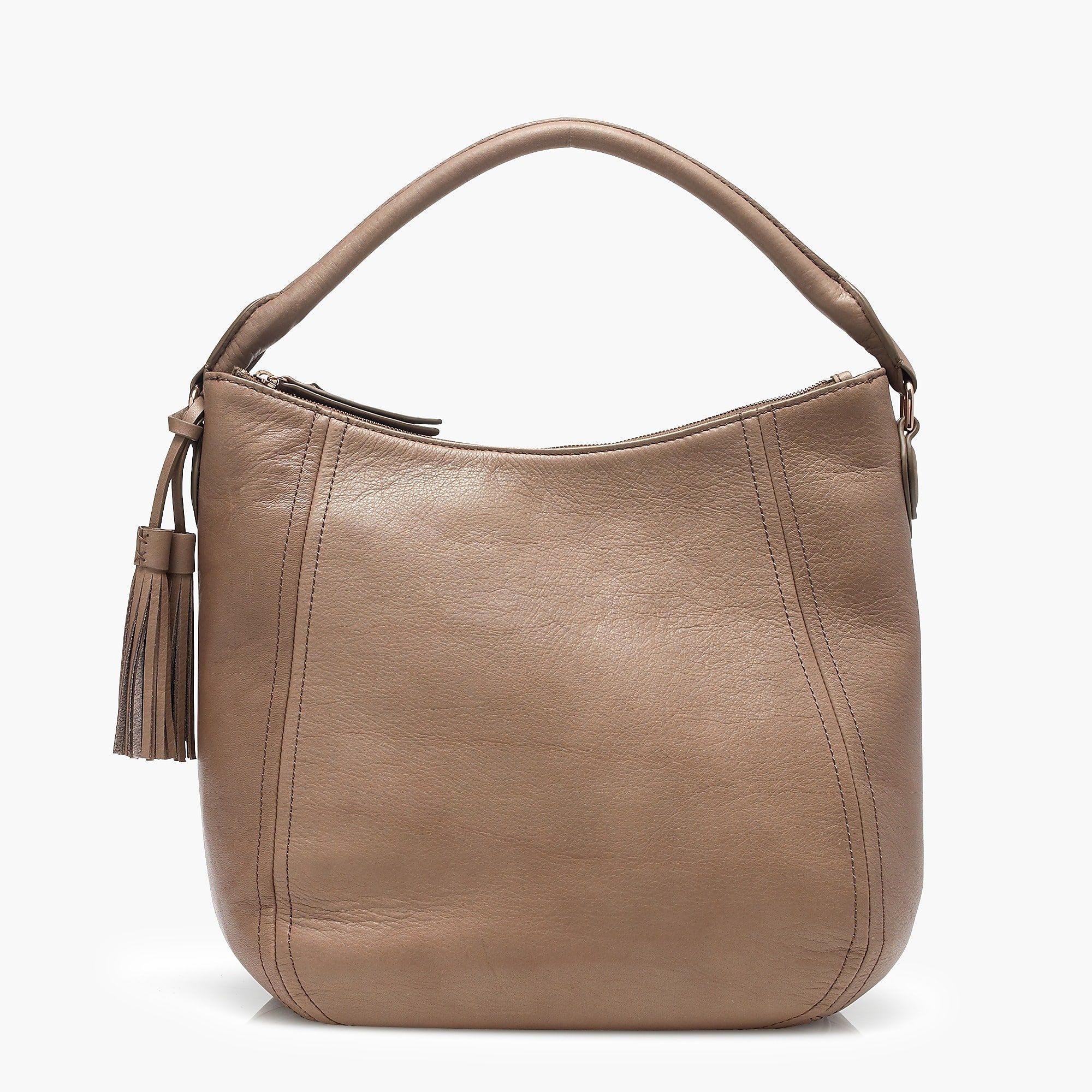 A Haul-it-all Hobo Bag With Natural Variations In The