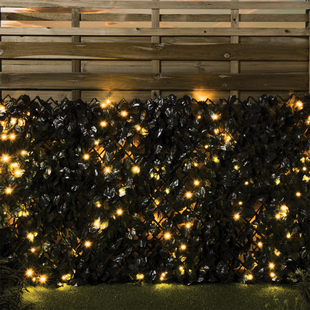 Expanding Ivy Fence With LED Lights Led lights, Ivy wall
