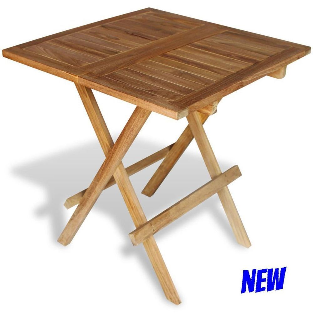 Square bistro table folding outdoor indoor al fresco wood patio cafe