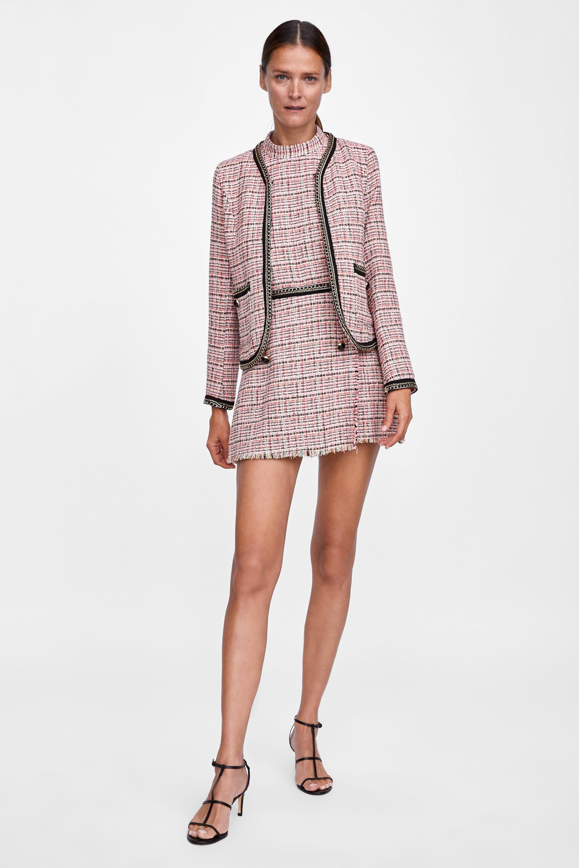 a0c0a953e0e2 BLAZER TWEED CADENAS in 2019 | The Edit | Fashion, Tweed blazer, Zara