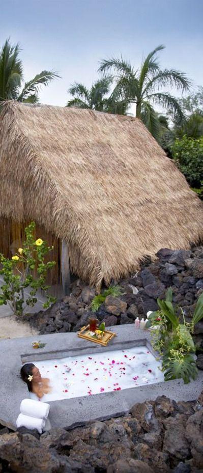 Spa Hale & Bath at Mauna Lani Bay Hotel And Bungalows (Kohala Coast, Big Island) Hawaii. I
