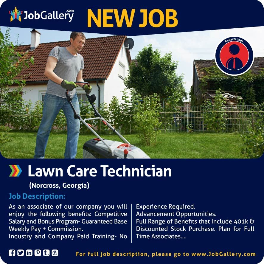 Lawn Care Technician Job Posting Job Opening Technician