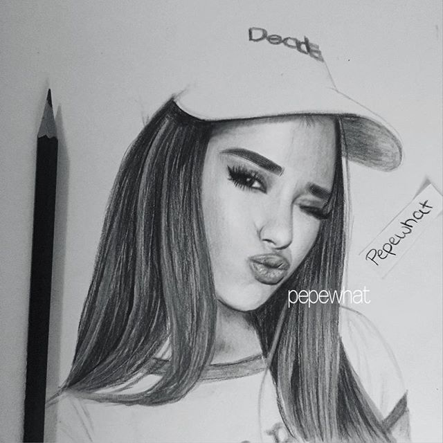 Instagram post by pepewhat • jan 29 2016 at 346pm utc celebrity drawingsariana grande