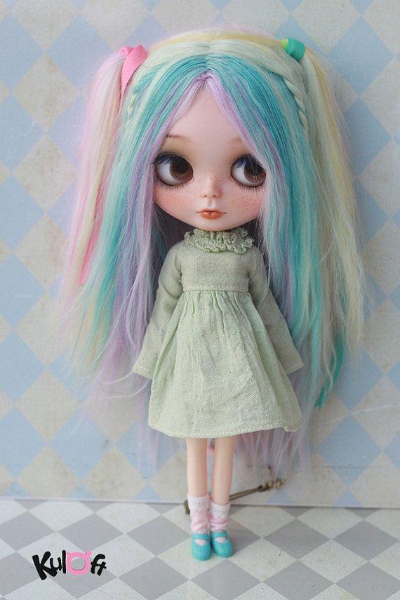 Blythe Drying dress Green colour