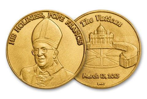 Pope Francis I 1 10 Oz Gold Commemorative Bu Gold Silver Coins
