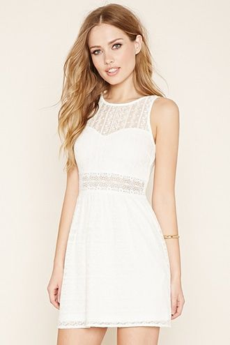 Ornate Lace Skater Dress