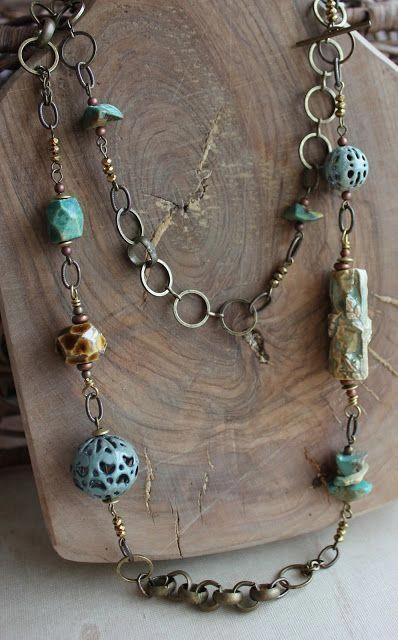 Really Nice Chain Beaded Necklace Diynecklace Diy