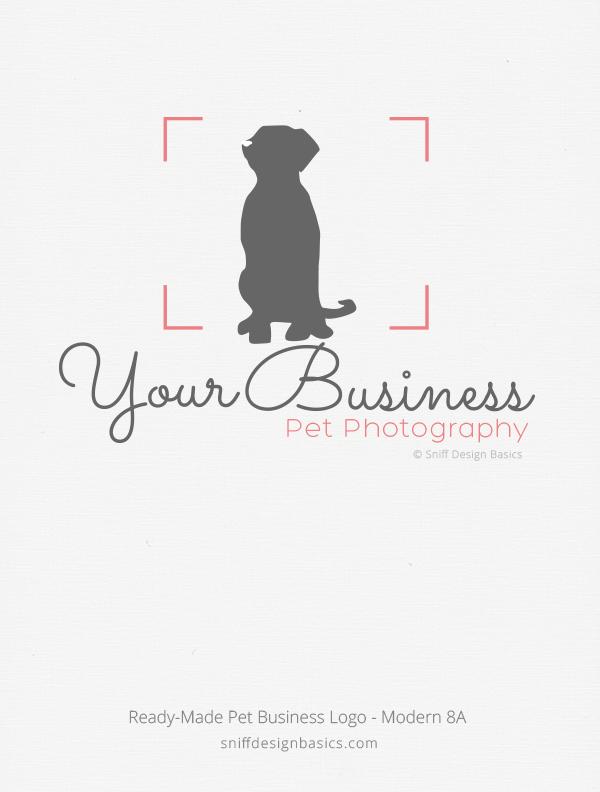 Ready Made Pet Photographer Logo Modern 8 Sniff Design Basics