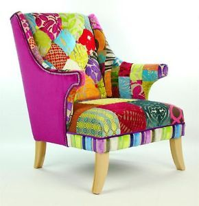 Inspiration for my chair that needs to be reupholstered.