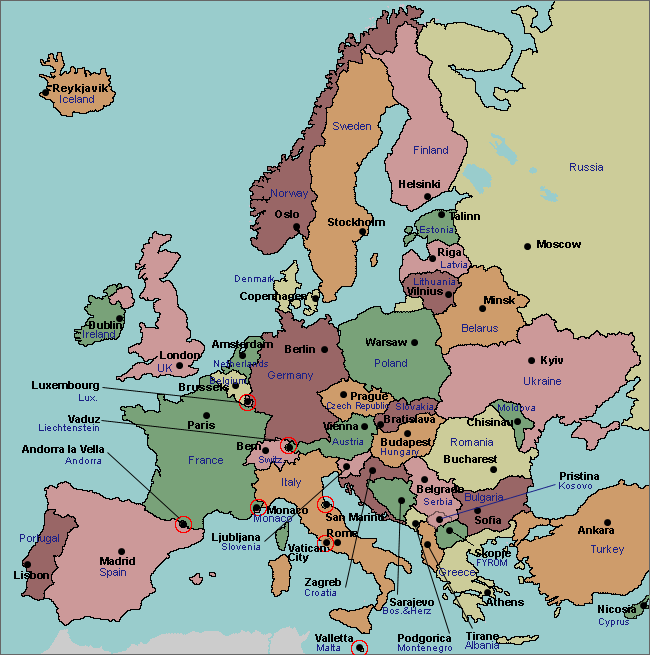 labeled map of Europe | Geography | Map quiz, Map, Geography quiz