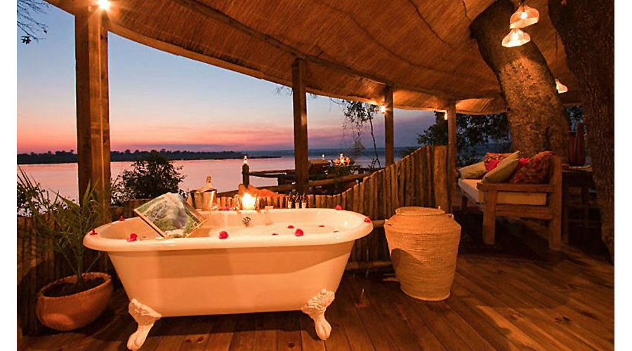Suíte do Lodge Tongabezi, na Zâmbia