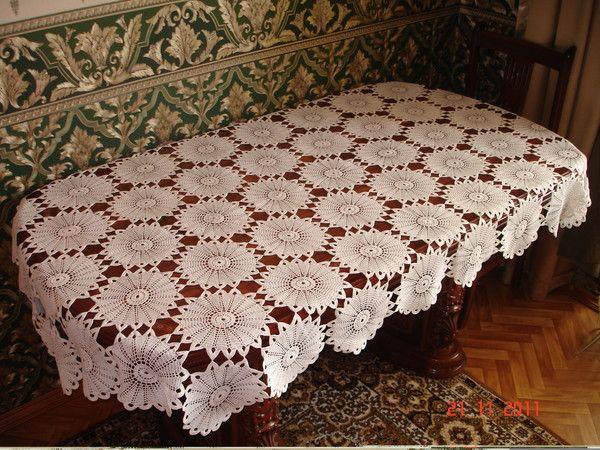 Copritavolo Uncinetto ~ Maglia uncinetto punto croce schemi gratis tablecloths