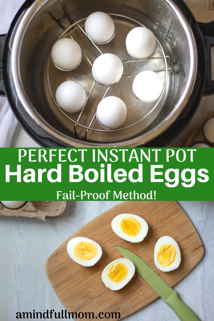 Perfect Instant Pot Hard Boiled Eggs | A Mind Full Mom