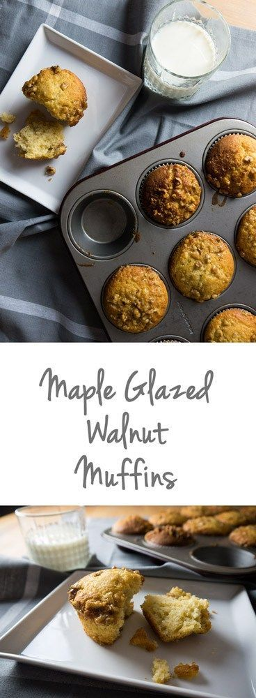 Maple Glazed Walnut Muffins are easy to make and so light and fluffy! The maple glaze adds a perfect sweetness.