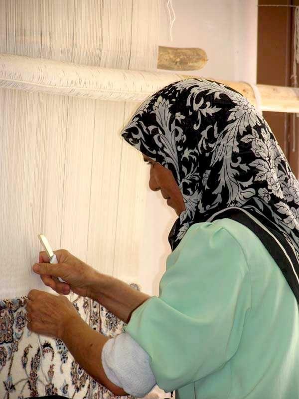 Weavers Cut The Wool During Process Of Weaving Carpets Persian Carpetpersian Rugiranian