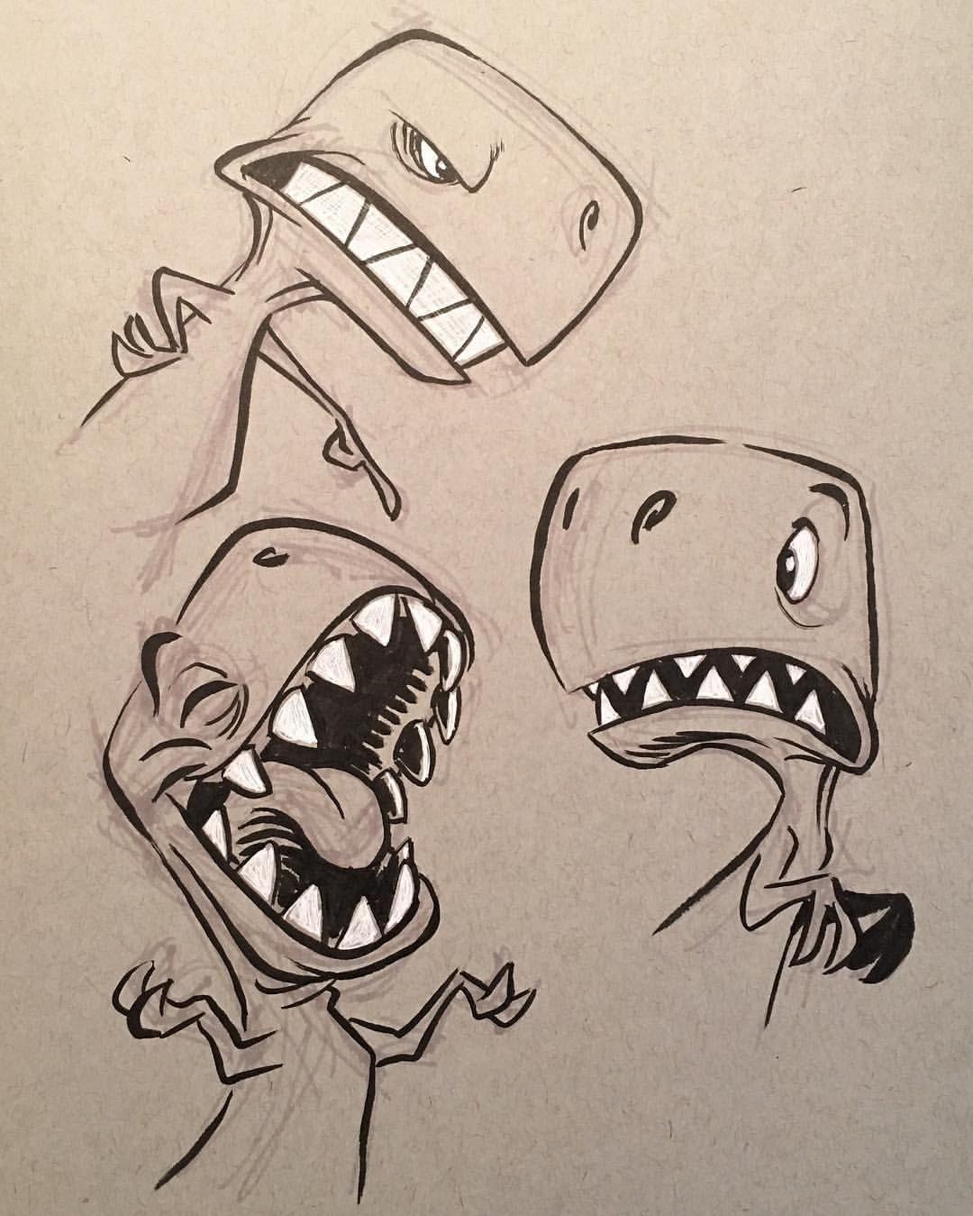 """Mi piace"": 886, commenti: 9 - Eric Scales (@ericscales13) su Instagram: ""#dinosaurs #dinos #cartoon #trex #brushpen #animation #characterdesign #characterdesigner"""