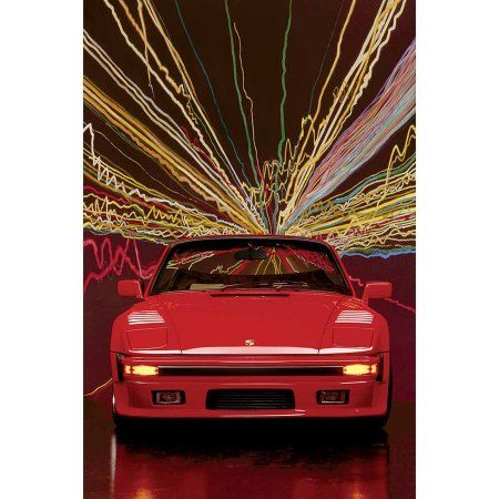 Porsche911SlopenoseConvertible Photography Art, Multicolor