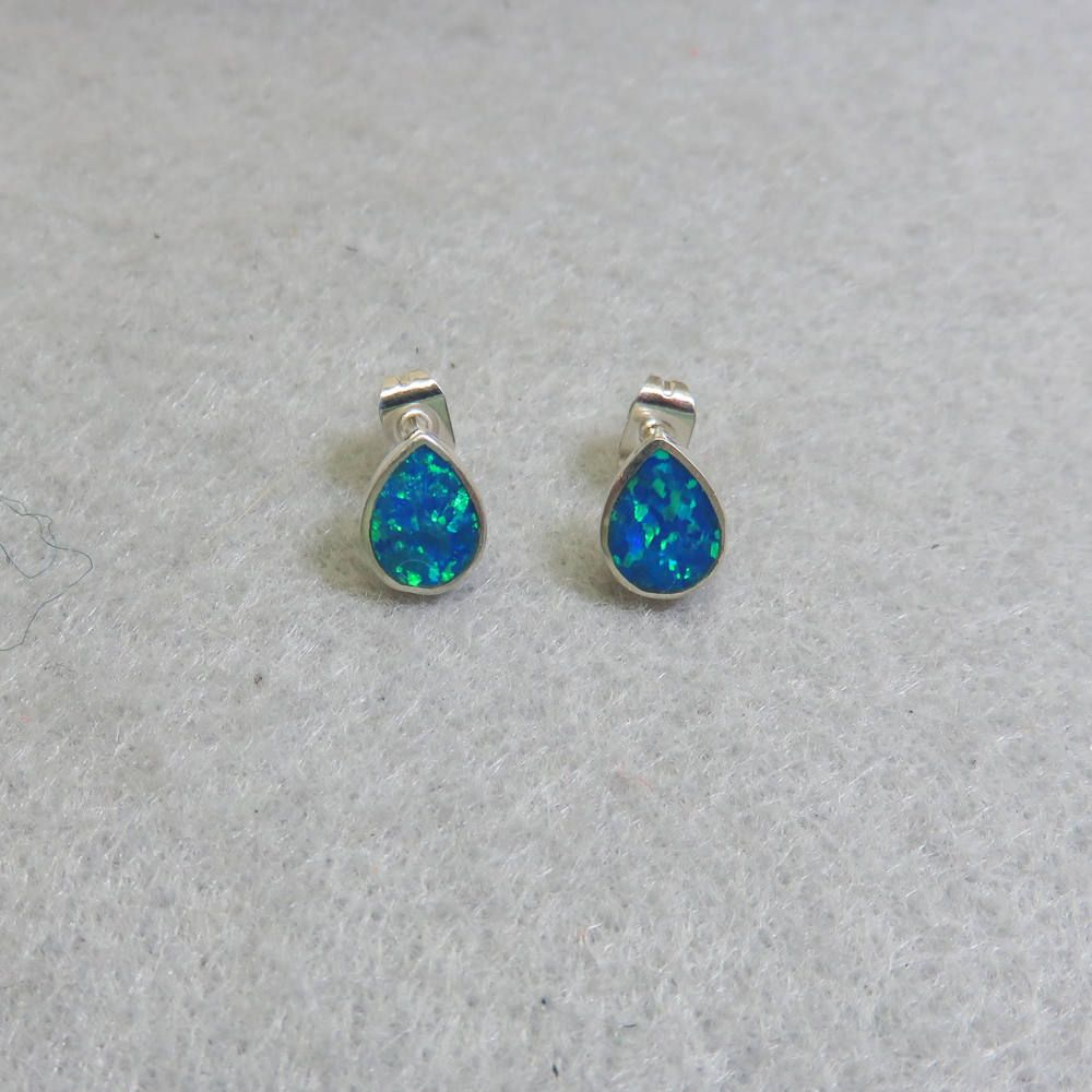 studs stud earrings jewellery flashopal real gems sale oval colorful bright gold opal for