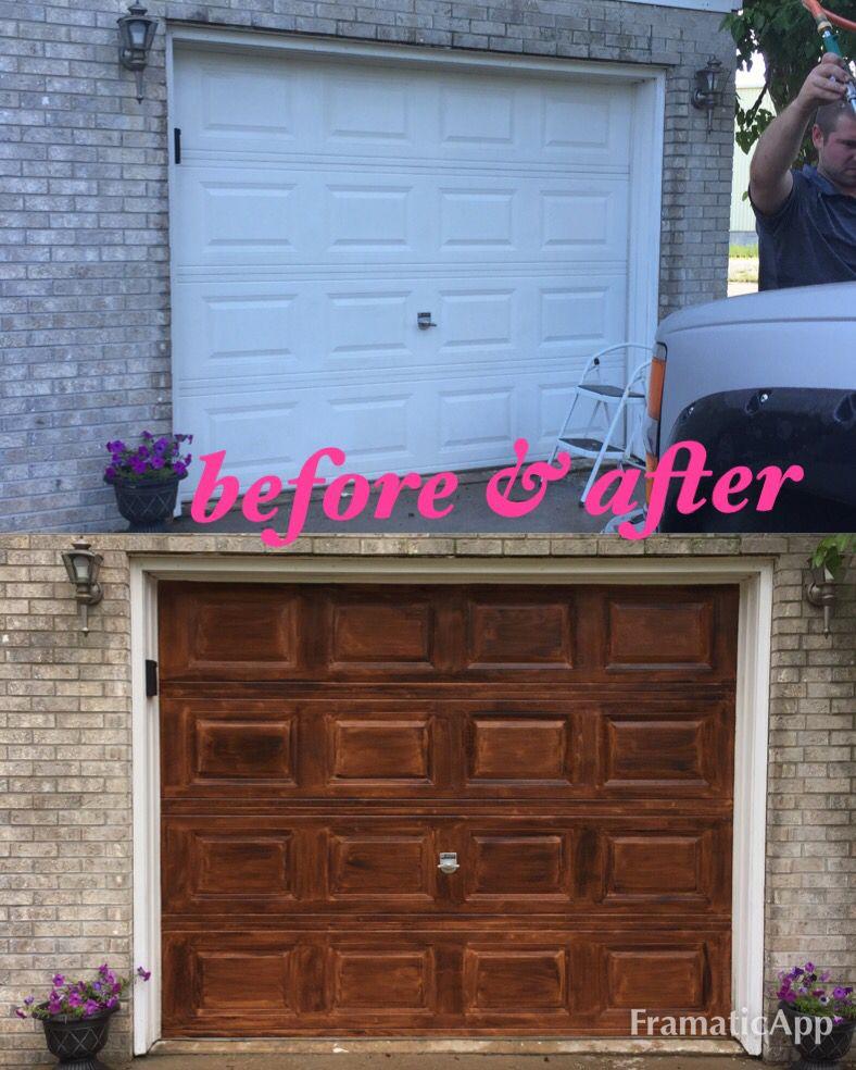 Gel stained garage door Garage doors, Garage door