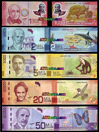 Costa Rica Banknotes Colones