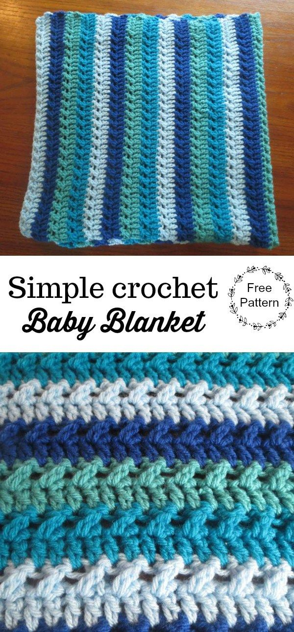 Simple Crochet Baby Blanket Crochet Pinterest Crochet