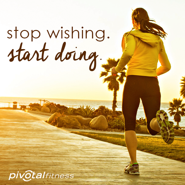 Wishing won't get you that six pack.  #GetUpandGo #Fitspiration