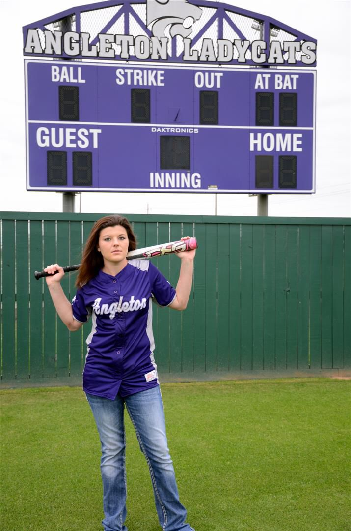 Senior pictures softball