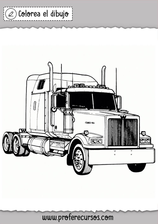 Dibujos De Camiones Trailer Camion Dibujo Camion Pesado Camiones