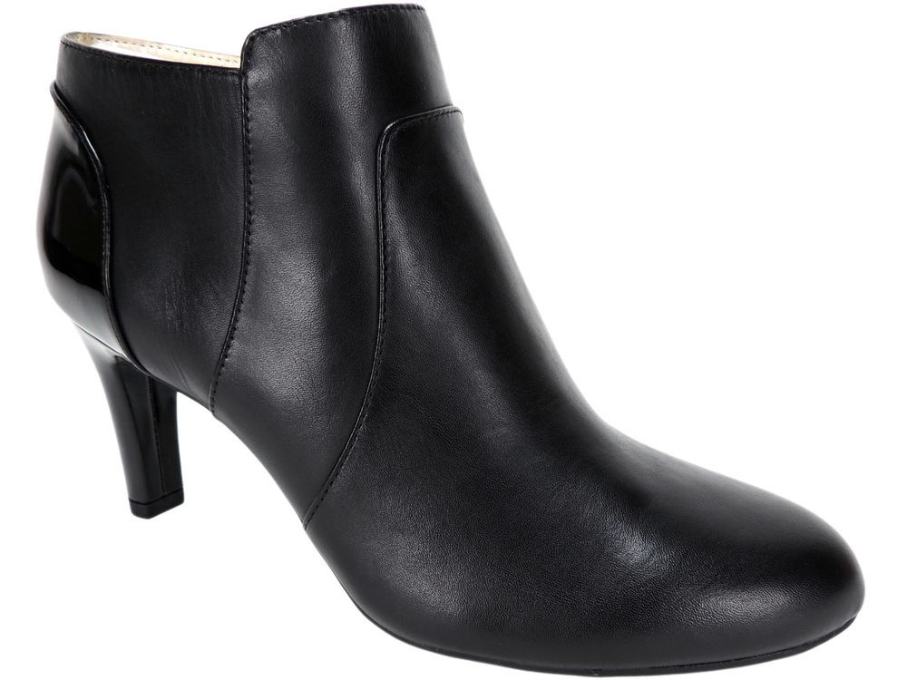 Bandolino Women's Liron Ankle Dress Booties Black Leather Pumps Size 6 M # Bandolino #Booties