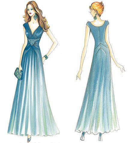 F3228 | Marfy Dress | Evening / Prom | Kwik Sew Patterns | SEW WHAT ...