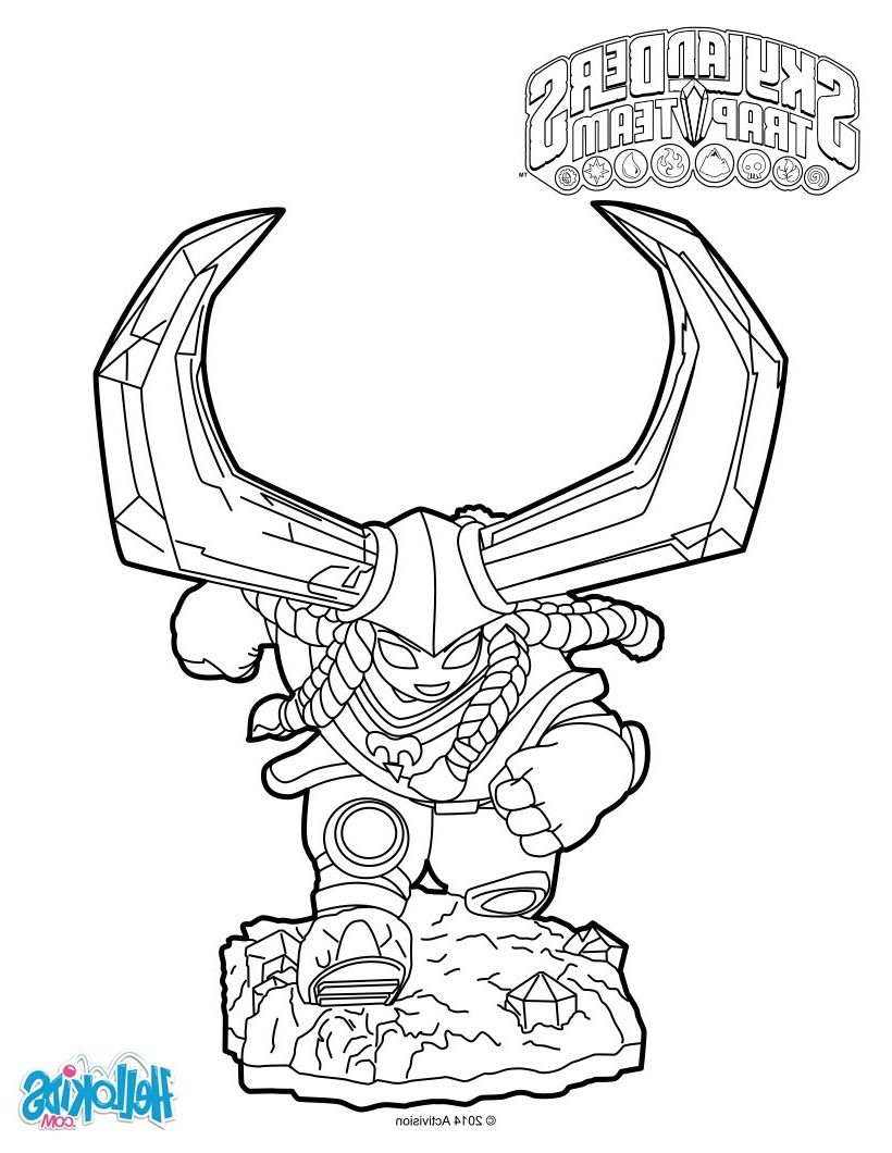 12 Aimable Coloriage Skylanders Images