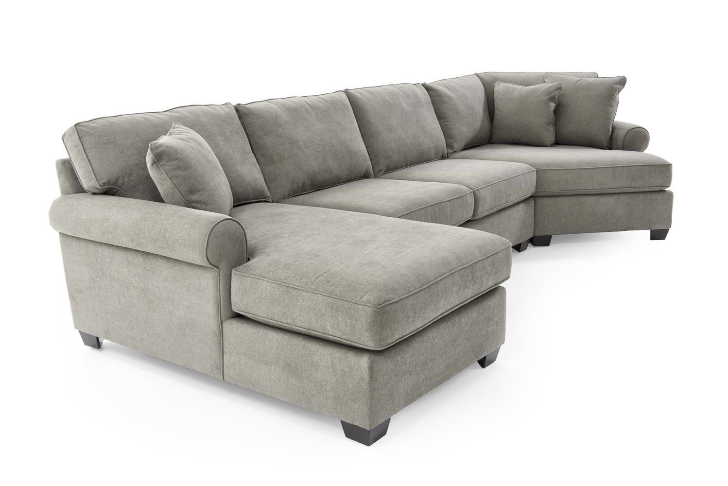 Jessica Casual Three Piece Sectional Sofa With Cuddler By Max Home