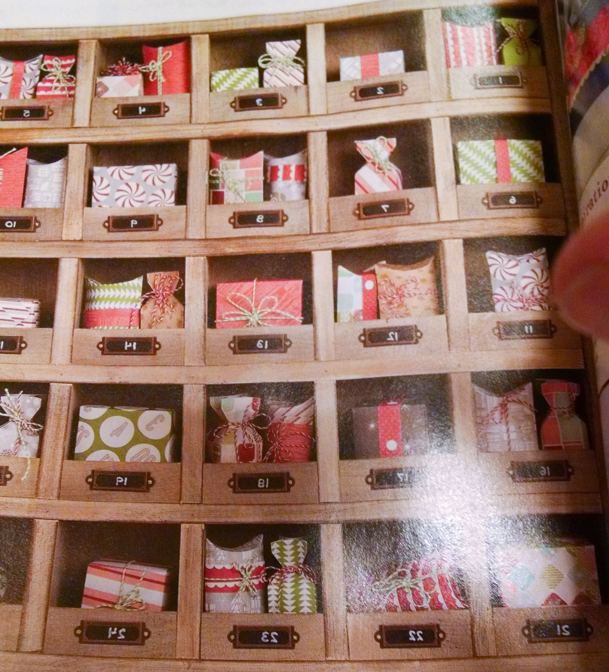 Advent Calendar from Spice cabinet - good for two kiddos.
