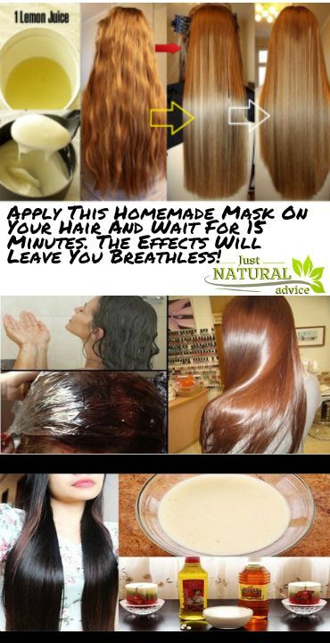 Apply This Homemade Mask On Your Hair And Wait For 15 Minutes The Effects Will Leave You Breathless Homemade Hair Products Homemade Hair Mask Treat Hair Loss