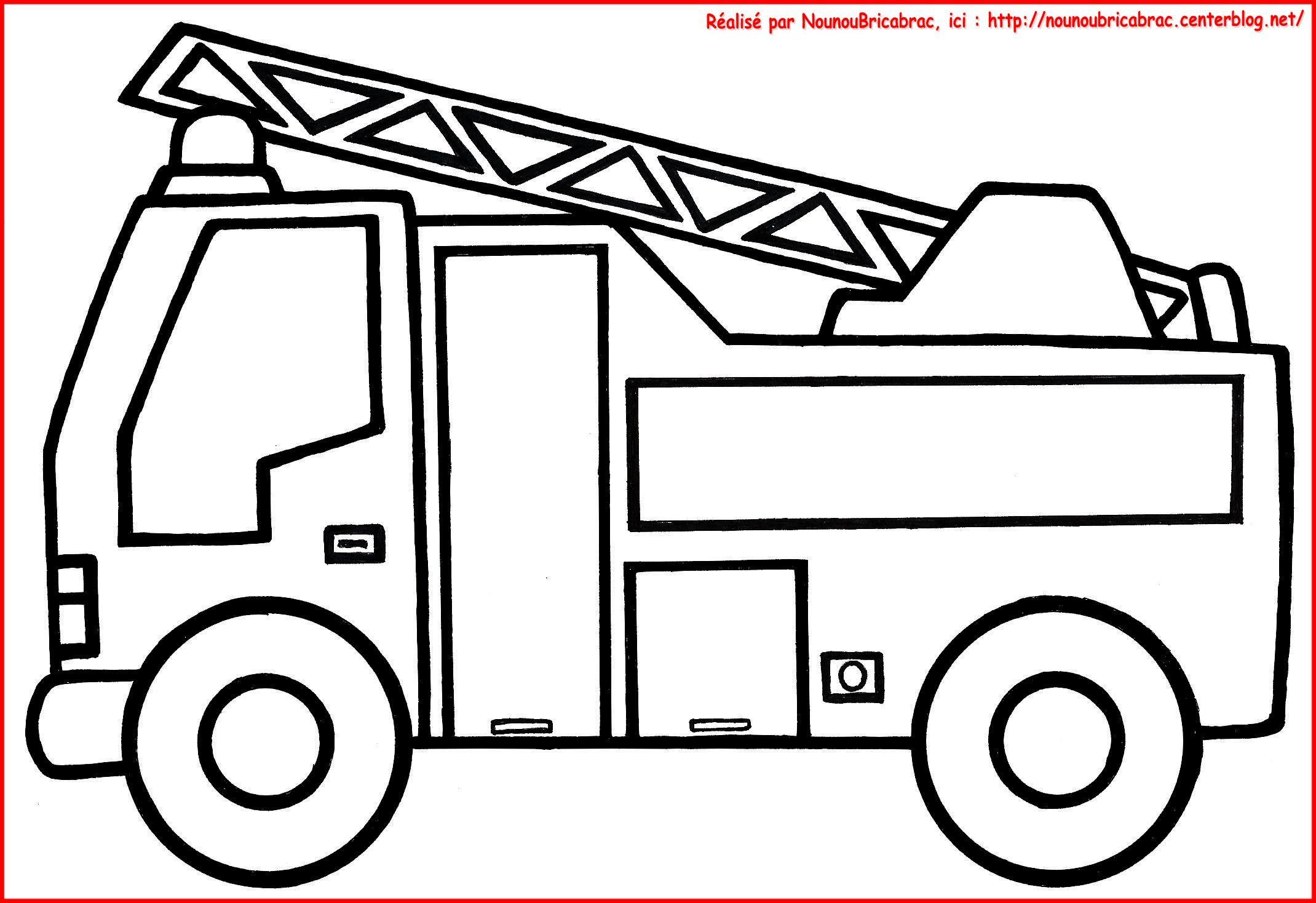 Camion De Pompier Colorier Anniversaire Thme