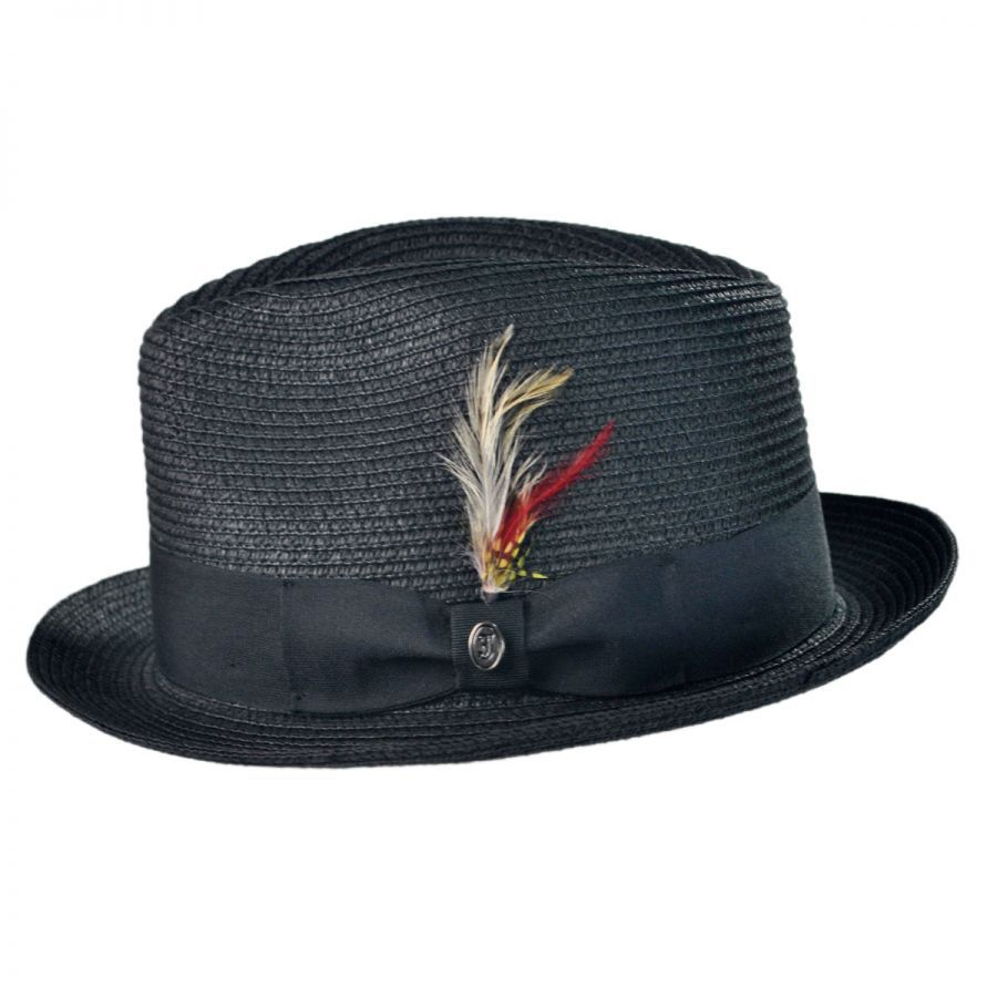 Jaxon Hats Toyo Straw Braid Trilby Fedora Hat Straw Hats 16394299235
