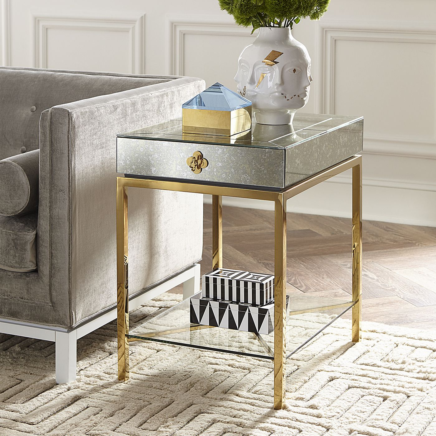 Delphine Tall Side Table In 2020 Tall Side Table Side Table Living Room Decor Apartment #tall #living #room #table