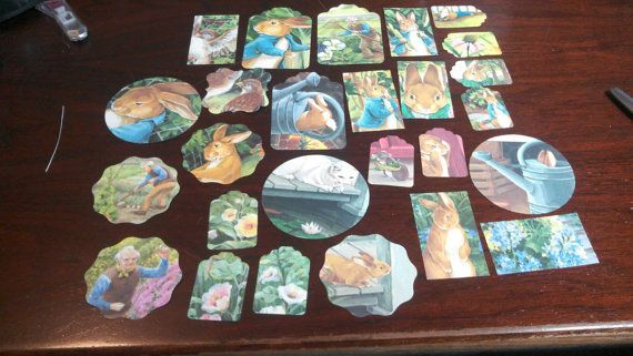 Beatrix Beatrice Potter Scrapbooking Tags 47 pc  Peter by amylaugh, $6.25