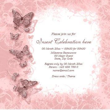 Wedding Invitation Templates Elegant Invitations Erfly Theme Engagement