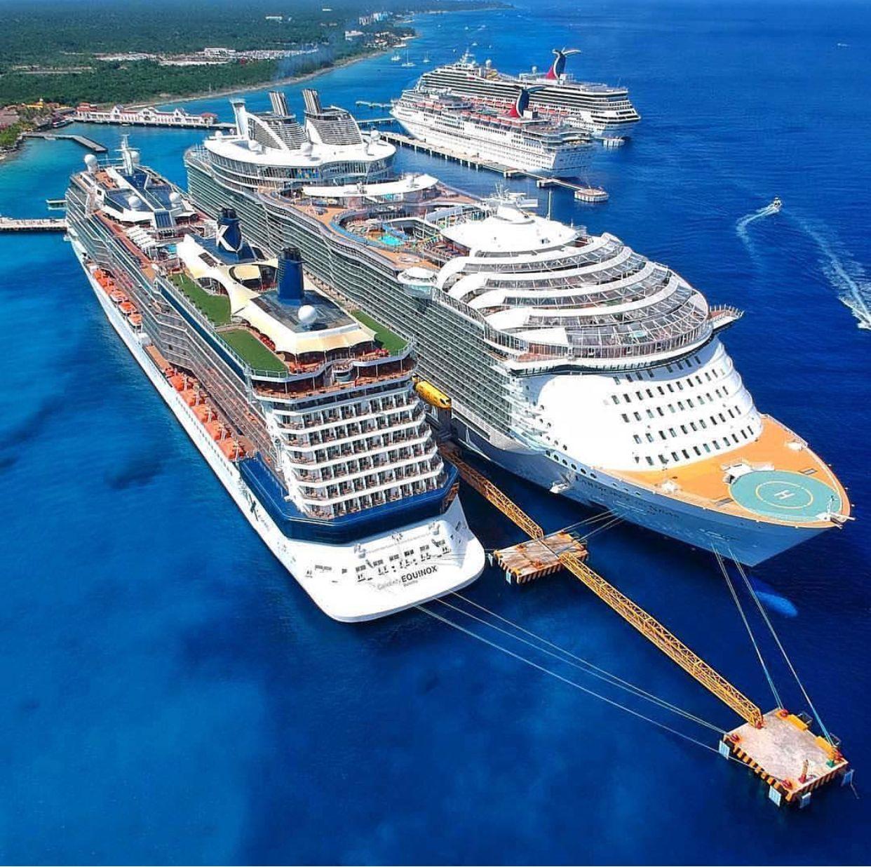 Celebrity Equinox And Harmony Of The Seas Cruise Ship Caribbean Cruise Cruise Travel [ jpg ]