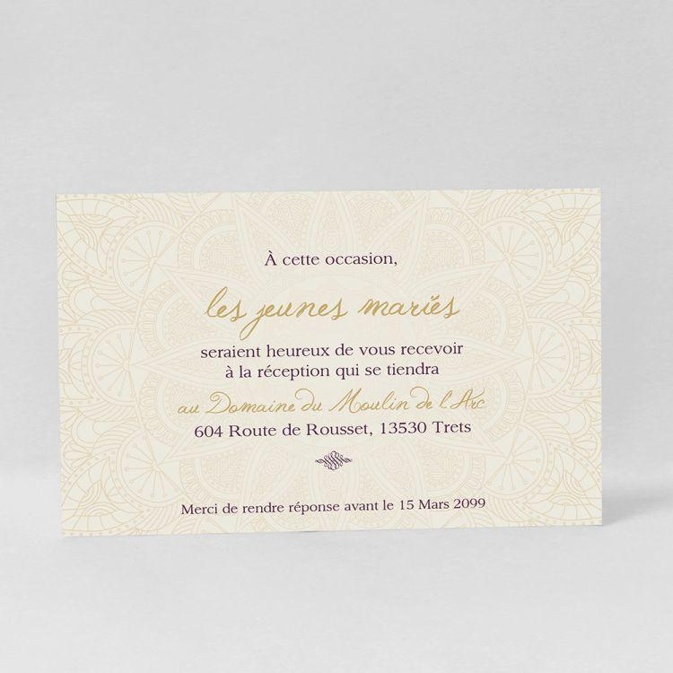 invitation repas mariage original