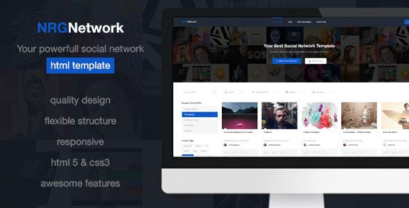 download free nrgnetwork your powerful social network template
