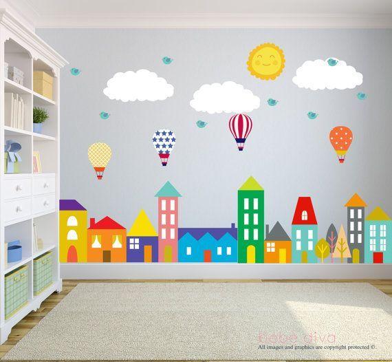 City Wall Decals Nursery Baby By Bebedivaboutique