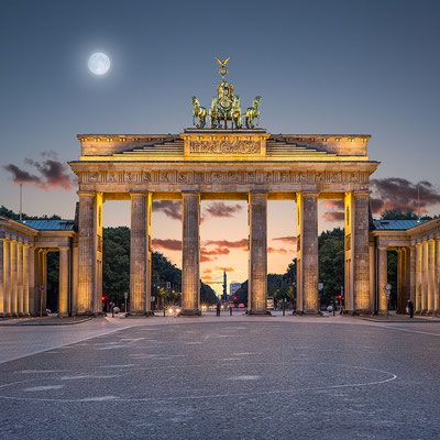Brandenburger Tor Quadrat 95 X 95 Cm Leinwand Auf Keilrahmen 610 Aludibond 770 Acrylglas Au Brandenburger Tor Beruhmte Gebaude Berlin Bilder