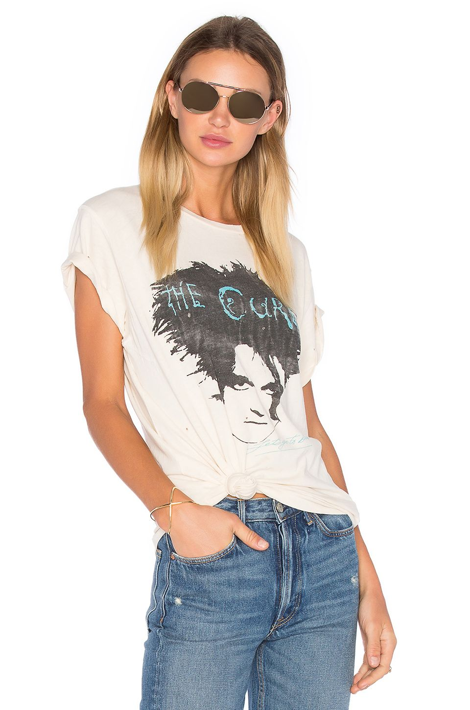 64a87aee97a2 Madeworn The Cure Tee in Dirty White   Graphic Design: Vintage Band ...