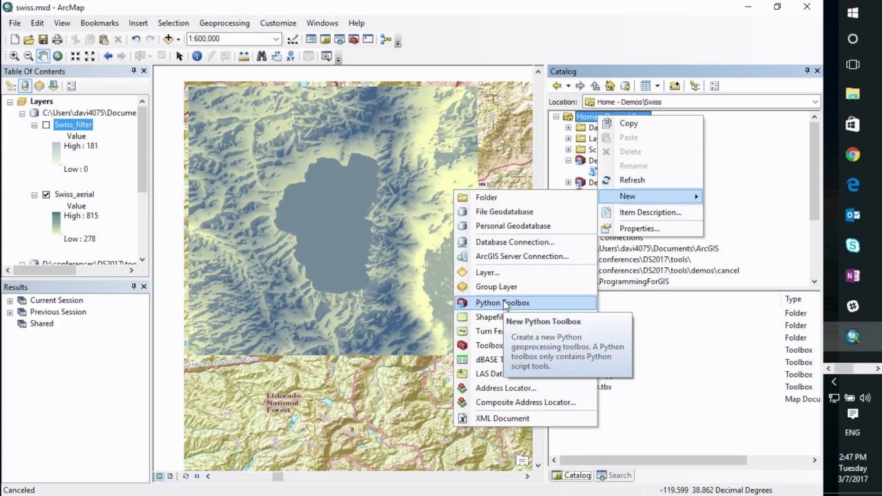 Python: Developing Geoprocessing Tools   Geospatial / GIS