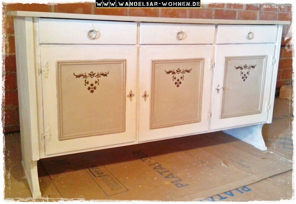 kreidefarbe shabby chic chalk paint annie sloan acrylfarbe schablone shabby chic mit zwei. Black Bedroom Furniture Sets. Home Design Ideas