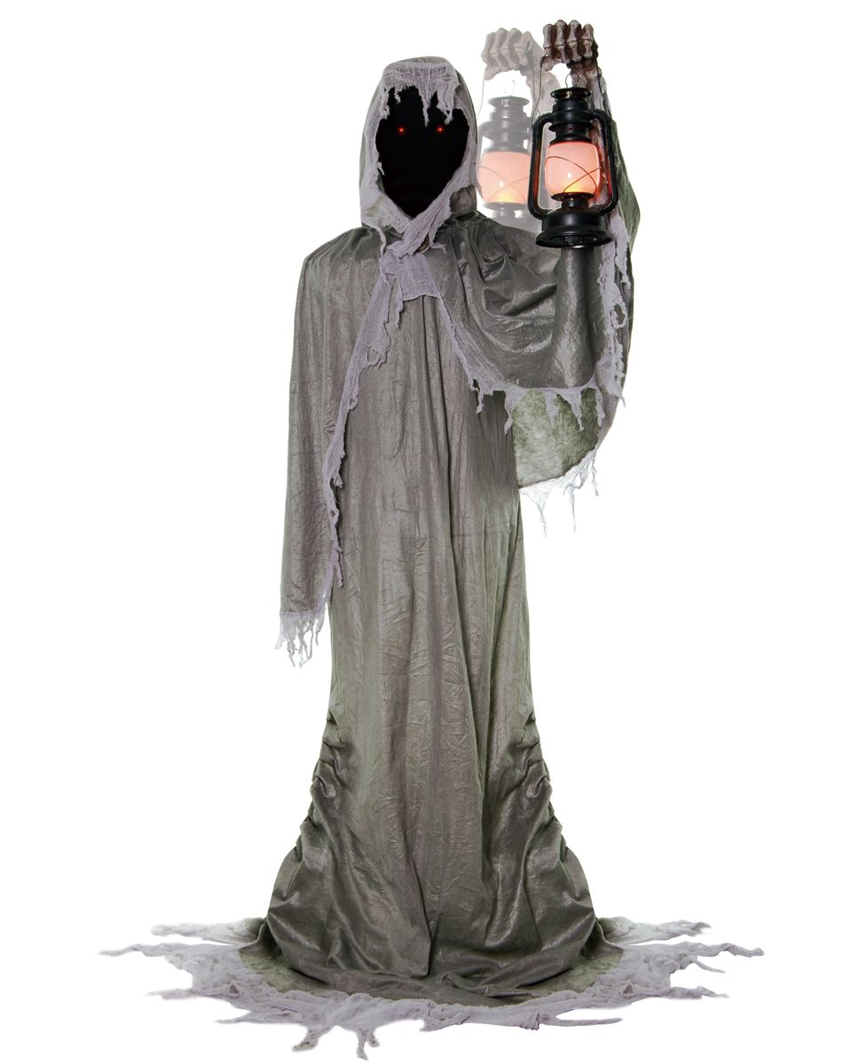 The life-sized animated Gatekeeper prop is a six foot tall hooded ...